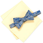 Countess Mara Men's Martin Paisley Pre-Tied Bow Tie & Solid Pocket Square Set