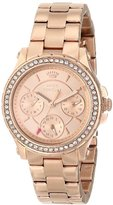 "Juicy Couture Women's 1901106 ""Pedigree"" Rose Gold-Tone Watch"