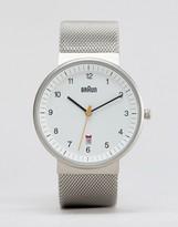 Braun Classic Mesh Watch In Silver