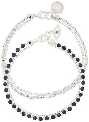 Astley Clarke Lapis Evil Eye bracelet stack