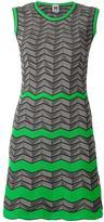 M Missoni geometric pattern knitted dress - women - Cotton/Polyamide/Polyester - 38