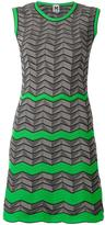 M Missoni geometric pattern knitted dress - women - Cotton/Polyamide/Polyester - 40