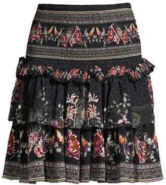 Camilla Tiered Silk Skirt