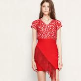 Maje Fringed short skirt