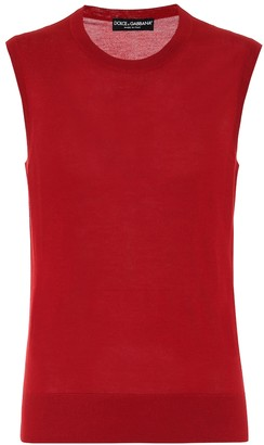 Dolce & Gabbana Cashmere and silk knit tank top