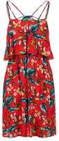 Petite floral overlay dress