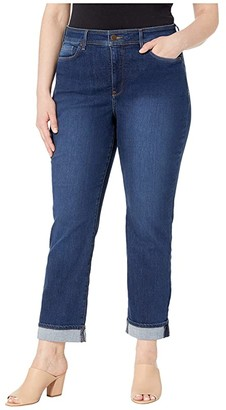 NYDJ Plus Size Plus Size Marilyn Straight Ankle Clean Cuff in Cooper (Cooper) Women's Jeans