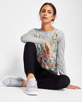 Ted Baker Patchwork fine knit sweater