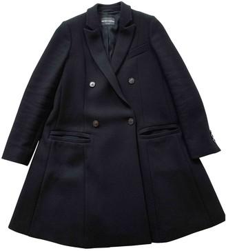 Emporio Armani Black Wool Coat for Women