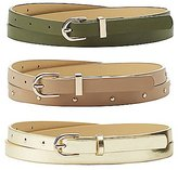 Charlotte Russe Plus Size Studded & Metallic Belts - 3 Pack