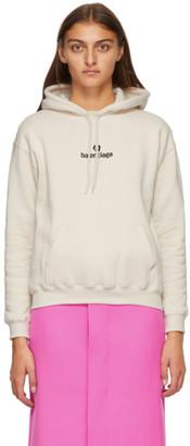 Balenciaga Beige Sponsor Logo Hoodie