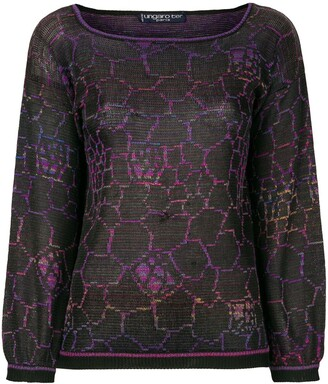 Emanuel Ungaro Pre Owned Geometric Knit Top