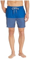 Southern Tide Fireworks Stripe Swim Trunks (Blue Lake) Men's Swimwear