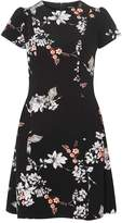 Dorothy Perkins Black Oriental Print Skater Dress