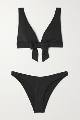 Zimmermann Poppy Bow-detailed Bikini - Black