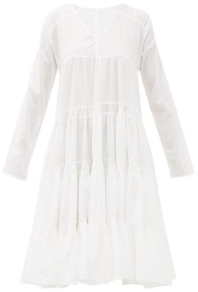 Merlette New York Rodas Tiered Pima-cotton Midi Dress - White