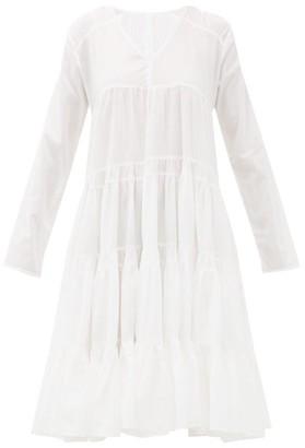 Merlette New York Rodas Tiered Pima-cotton Midi Dress - Womens - White