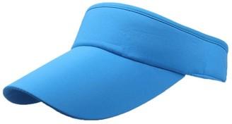 Winkey Women's Empty Top Sunhat Sport Headband Classic Sun Visor Caps Hat (Blue)
