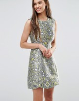 Darling Metallic Skater Dress