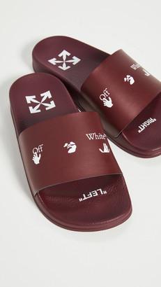 Off-White Swimming Man Slide Sandals
