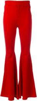 Givenchy flared trousers - women - Silk/Polyamide/Spandex/Elastane/Viscose - 40
