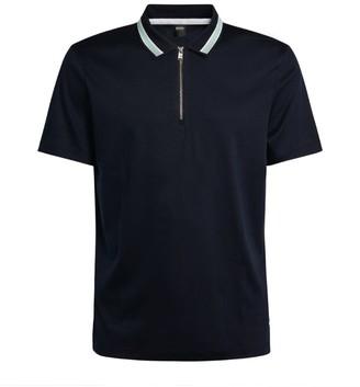 HUGO BOSS Contrast-Collar Polo Shirt