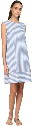 Max Mara 'S Striped Cotton Canvas Dress