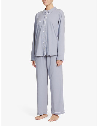 Skin Cecilia button-up cotton pyjama set