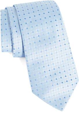 Emporio Armani Geometric Dot Silk Blend Tie