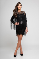Terani Evening - 1722C4053 Long Sleeve Sequined Cocktail Dress