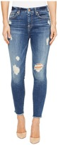 7 For All Mankind High Waisted Ankle Skinny w/ Release Hem in Serratoga Bay Women's Jeans