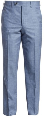 Saks Fifth Avenue COLLECTION Wool, Silk & Linen Woven Suit Pants