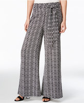 Bar III Printed Wide-Leg Pants, Only at Macy's