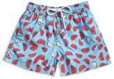 98 Coast Av Boys' Watermelon Print Swim Trunks - Big Kid