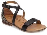 Aetrex Women's Brenda Embellished Cross Strap Sandal