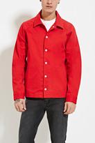 Forever 21 FOREVER 21+ Cotton-Blend Coach Jacket