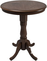 Asstd National Brand Woodgrove Dark Brown Bar Table with Pedestal Base