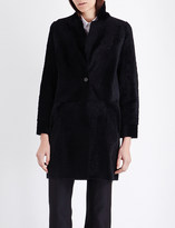 Karl Donoghue Collarless reversible shearling coat