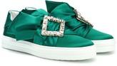 Roger Vivier Sneaky Viv' embellished satin sneakers