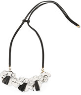 Marni Leather and crystal necklace