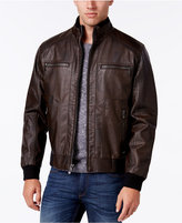 Calvin Klein Men's Big & Tall Faux-Leather Stand-Collar Bomber Jacket