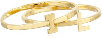 Kris Nations Illinois Abbreviation Gold Stackable Ring Size 7