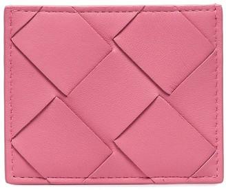Bottega Veneta Intrecciato Weave Woven Cardholder