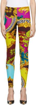 Versace Multicolor Voyage Barocco Leggings