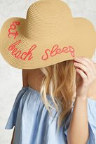 Forever 21 FOREVER 21+ Beach Sleep Graphic Straw Hat