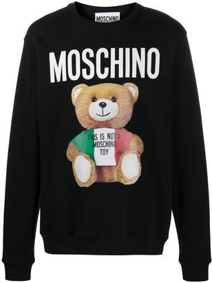 Moschino Teddy Bear crew neck sweatshirt