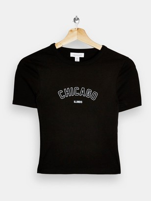 Topshop Chicago Tee - Black