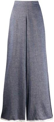 Danielapi Wide-Leg Flared Trousers