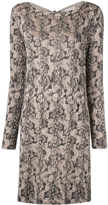 Altuzarra Fayette snakeskin knitted dress
