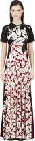 Marc Jacobs Black & Burgundy Silk Jersey Gown